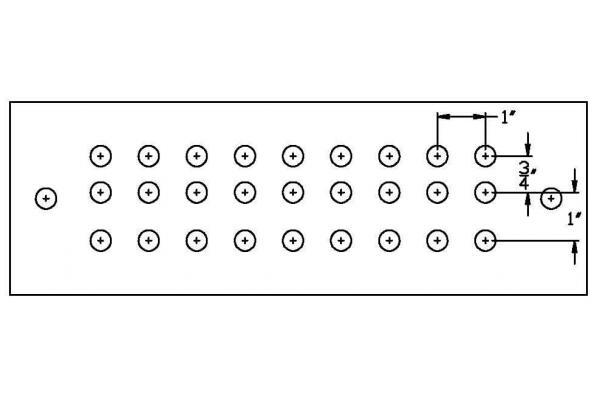 Harger GBI14412J Copper Ground Bar 1//4x4x12